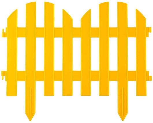 Забор декоративный ПАЛИСАДНИК, Grinda, 28х300 см, желтый (422205-Y), фото 2