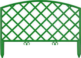 Забор декоративный ПЛЕТЕНЬ, Grinda, 28х320 см, зеленый (422207-G)
