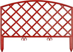 Забор декоративный ПЛЕТЕНЬ, Grinda, 28х320 см, терракот (422207-T)