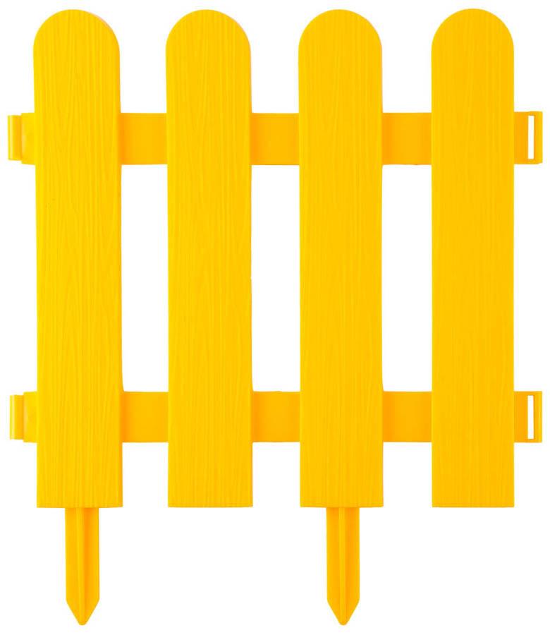 Забор декоративный ШТАКЕТНИК, Grinda, 29х224 см, желтый (422209-Y)