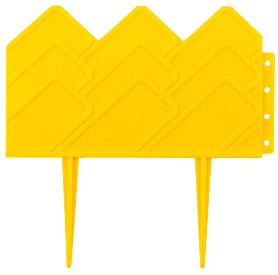Бордюр декоративный для клумб, Grinda, 14х310 см, желтый (422221-Y)