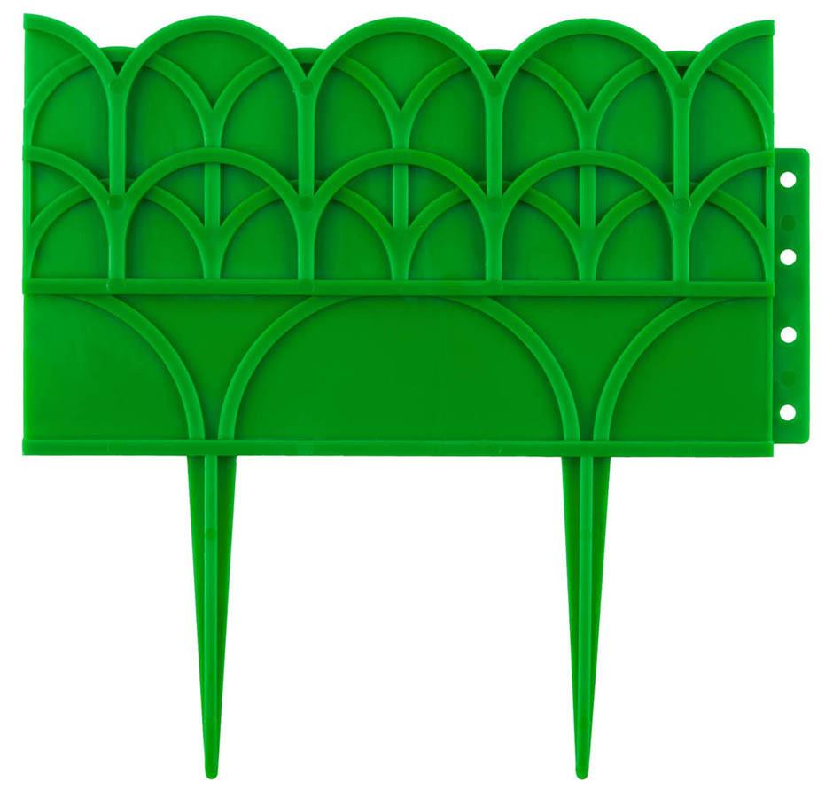 Бордюр декоративный для цветников, Grinda, 14х310 см, зеленый (422223-G)