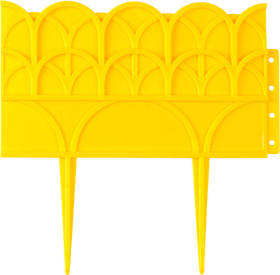 Бордюр декоративный для цветников, Grinda, 14х310 см, желтый (422223-Y)