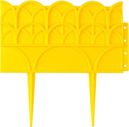Бордюр декоративный для цветников, Grinda, 14х310 см, желтый (422223-Y), фото 2