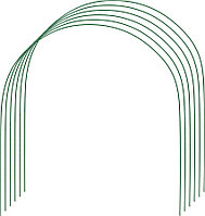 Дуги для парника, Grinda, 2.2 м, 6 шт., проволочные (422311-85-90)