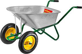 Тачка садово-строительная, Grinda, 90 л, 180 кг, двухколесная (422397_z01)