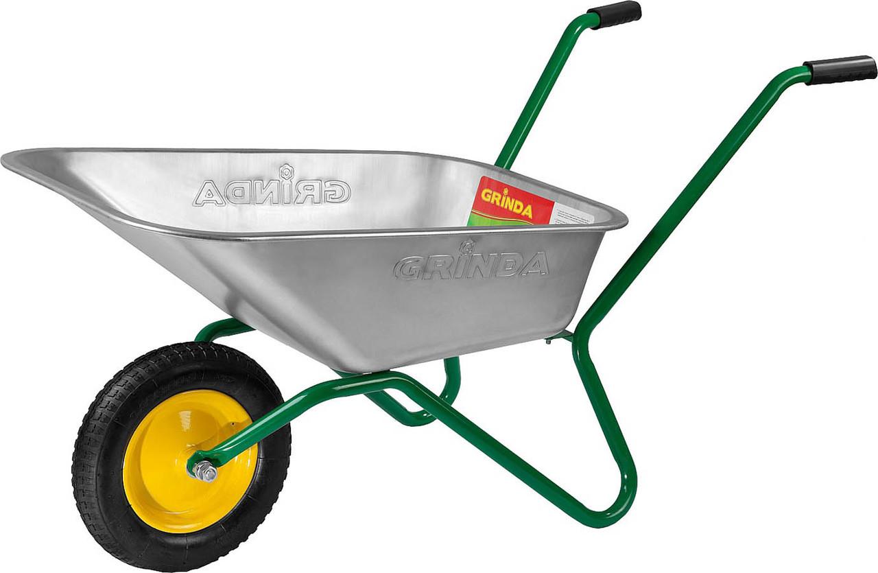 Тачка садовая, Grinda, 80 л, 100 кг (422399_z01)