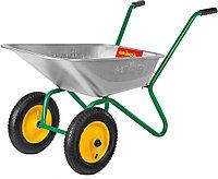 Тачка садовая, Grinda, 80 л, 120 кг, двухколесная (422400_z01)