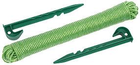 Набор садовых колышков с веревкой, Grinda, 3 шт. (8-422363-H3)