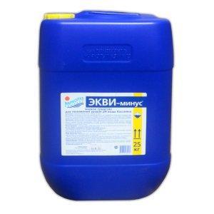 """Жидкий препарат для понижения уровня pH Маркопул """"ЭКВИ-минус"""" (канистра, 20 л)"""