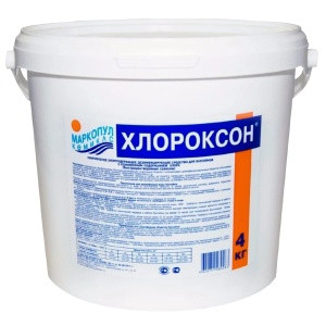 "Препарат для комплексной обработки воды Маркопул ""ХЛОРОКСОН"" (ведро, 4 кг)"