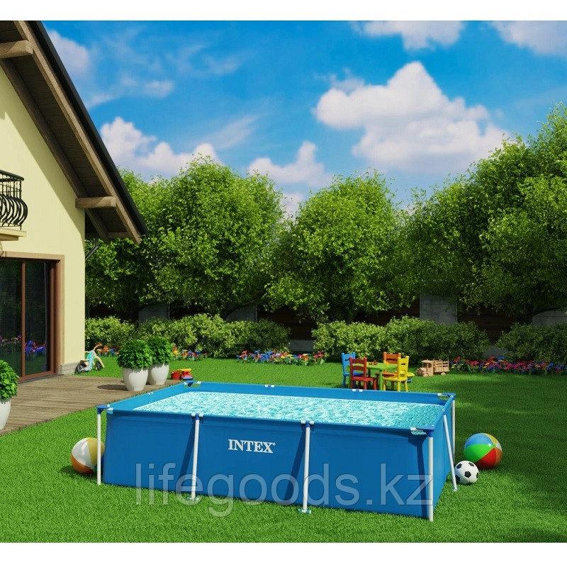 Каркасный бассейн для дачи прямоугольный 300х200х75 см, Intex 28272 - фото 1