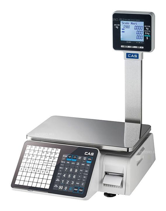 Весы торговые с печатью этикеток CAS CL3000J-15P (Ethernet) со стойкой