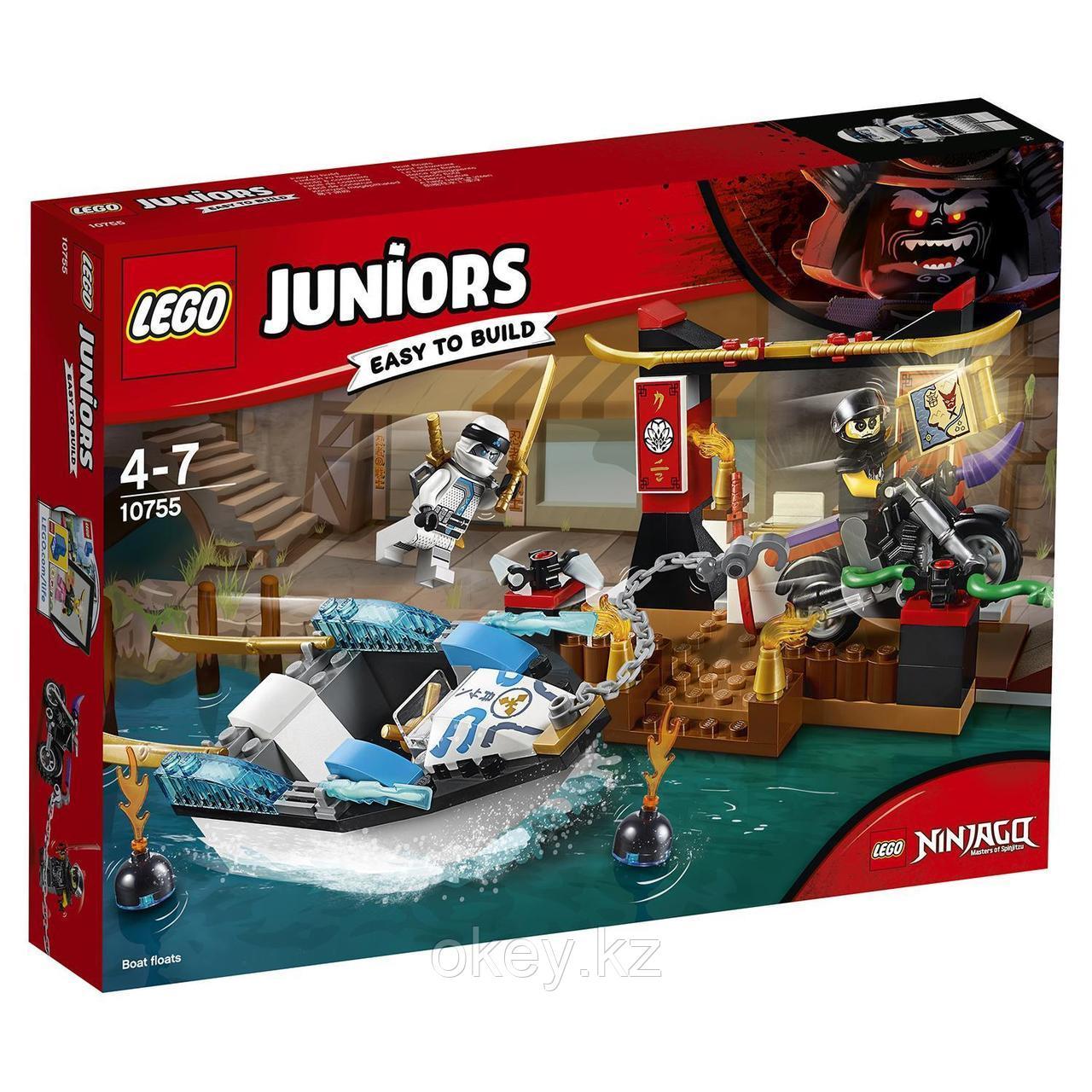LEGO Juniors: Погоня на моторной лодке Зейна 10755
