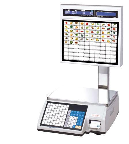 Весы торговые с печатью этикеток CAS CL5000J-15IS (Ethernet) со стойкой самообслуживания