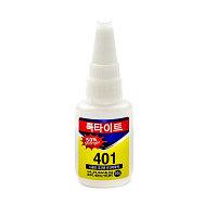 Клей моментальный LOCTITE 401 цианоакрилатный, многоцелевой, флакон 20г