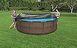 Тент для каркасных бассейнов диаметром 366 см, BESTWAY, 58037, Винил PVC, Чёрный, фото 2