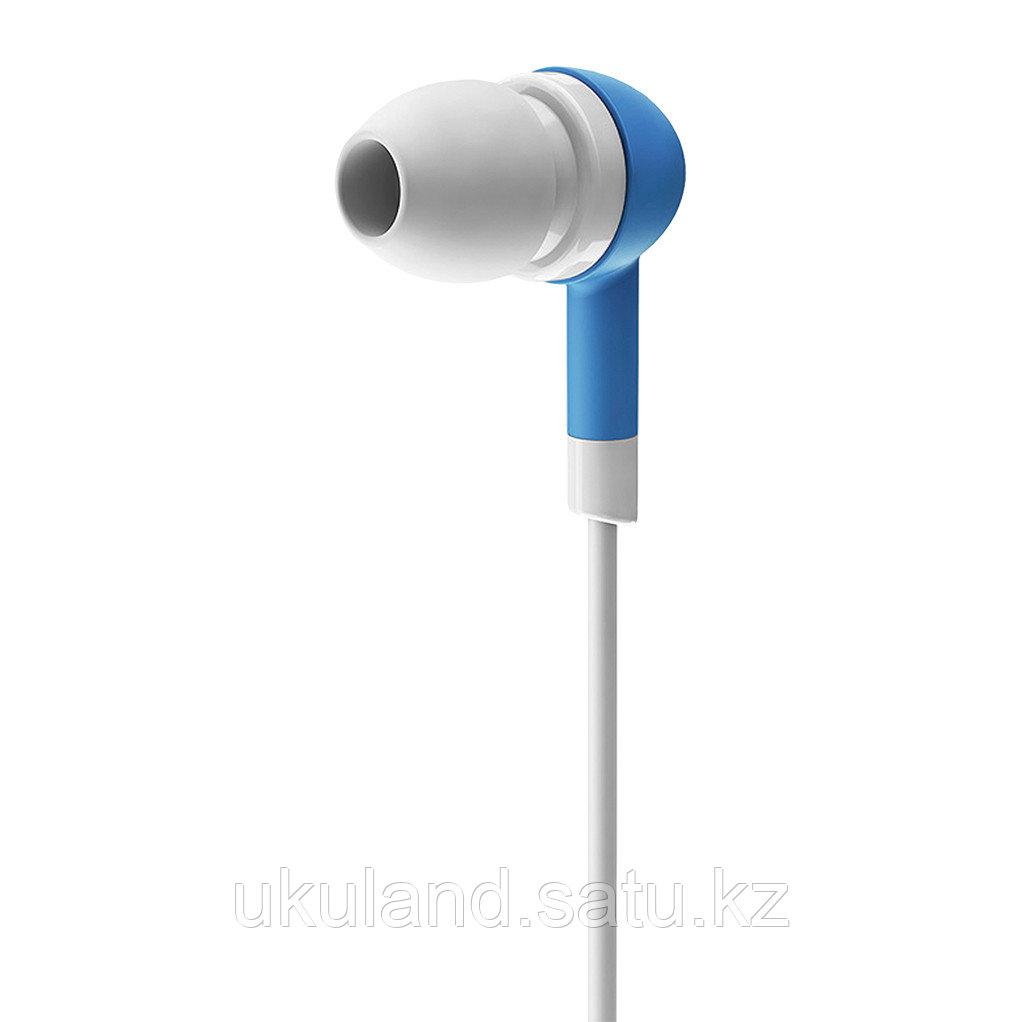 """Наушники-вкладыши проводные OLMIO """"Style"""", пластик, голубые, белый кабель, 3.5мм, OLMIO, 1/20/120"""