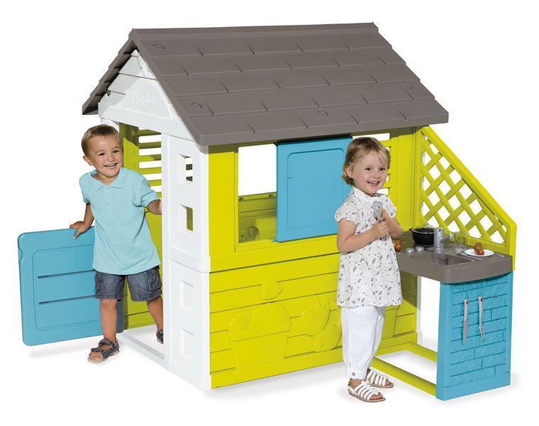 Игровой домик с кухней Синий, 145*110*127см