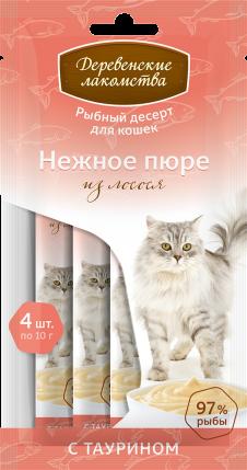 """Лакомство """"Деревенские лакомства"""" для кошек (Лосось) -"""