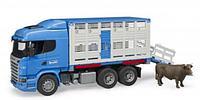 Фургон Scania для перевозки животных с коровой 03-549 Bruder