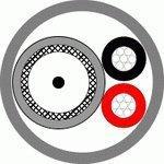 КВК-П-3ф 2х0,5 (черный) Паритет кабель комбинированный
