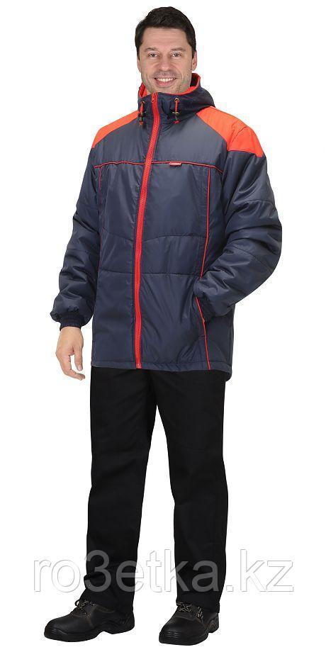 """Куртка """"Спринтер"""" мужская, т.синяя с красным"""