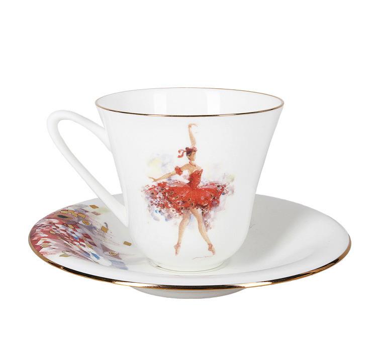 Чашка с блюдцем Фея Смелости. Императорский фарфор, авторская работа
