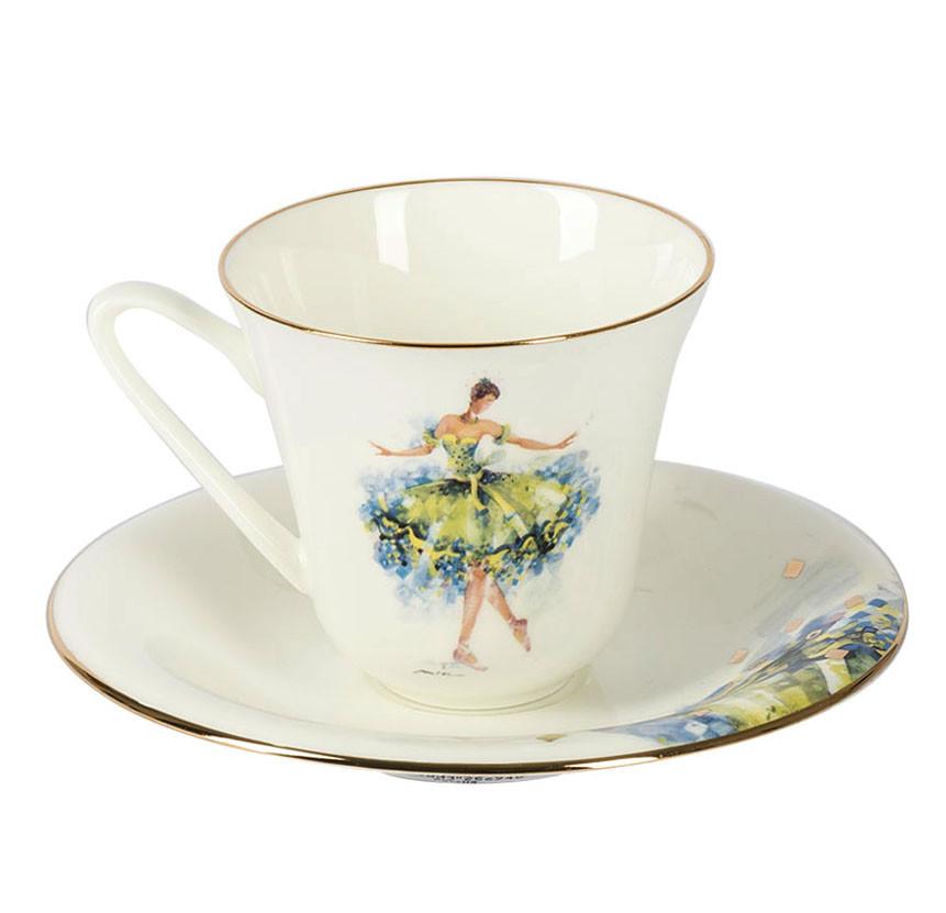 Чашка с блюдцем Фея Беззаботности. Императорский фарфор, авторская работа