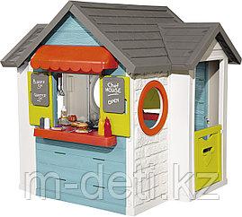Домик детский для улицы 3 в 1: садовый домик, ресторан и магазин 810403 Smoby