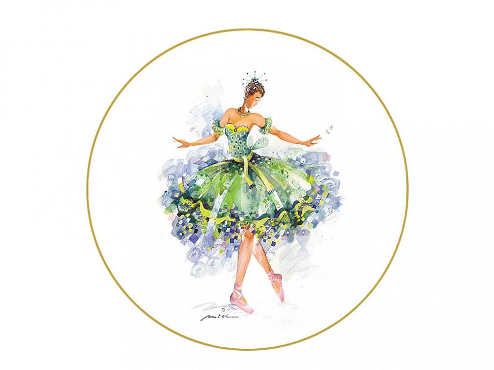 Декоративная тарелка Фея Щедрости. Императорский фарфор, авторская работа