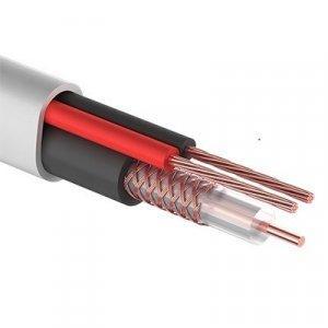 КВК-В-2+2х0,75 мм² (Cu/Cu) белый REXANT кабель комбинированный