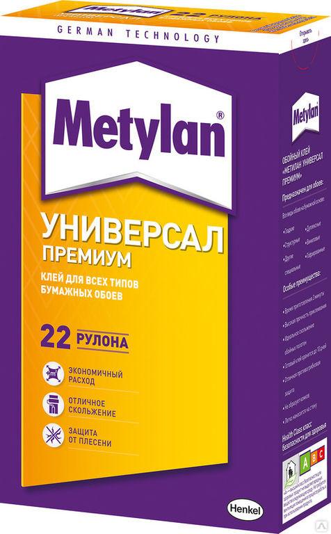 METYLAN Универсал ПРЕМИУМ Обойный клей для бумажных обоев, 500 г