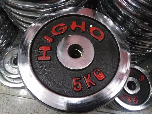 Блины для штанги хром D=28  5 кг+5 кг