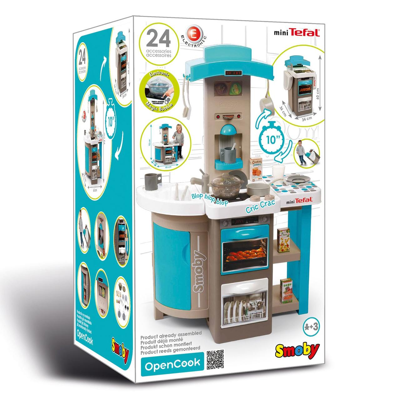 Детская игровая кухня складная Smoby Tefal Opencook