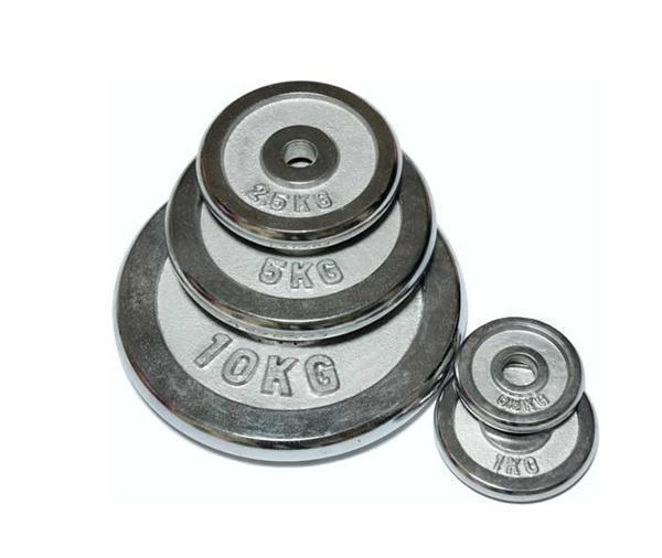Блины для штанги хром D=28 мм пара (15+15 кг)