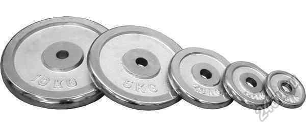 Блины для штанги хром D=28 мм пара (5+5кг)