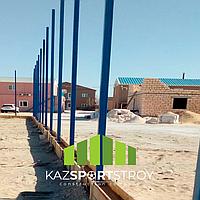 Строительство футбольного поля с нуля открытого типа в городе Актау. Форд-шевченко 6