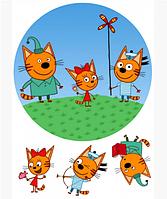 "Вафельная картинка ""Три кота"" д.200мм"