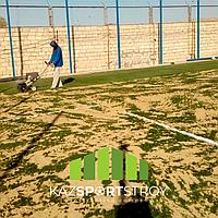 Строительство футбольного поля с нуля открытого типа в городе Актау. Форд-шевченко 1