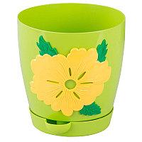 Горшок цветочный Адель 1,5 л, Светло-зелёный, М6792