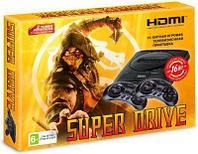 Игровая приставка Sega16 bit Super Drive Mortal Kombat HDMI + 2 геймпада (Черная)+картридж 24 игры, фото 1