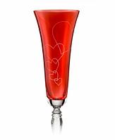 Бокалы свадебные для шампанского Victoria love 180 мл, 2 шт. (Crystalex, Чехия)