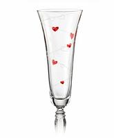 Фужеры свадебные для шампанского Victoria love 180 мл, 2 шт. (Crystalex, Чехия)