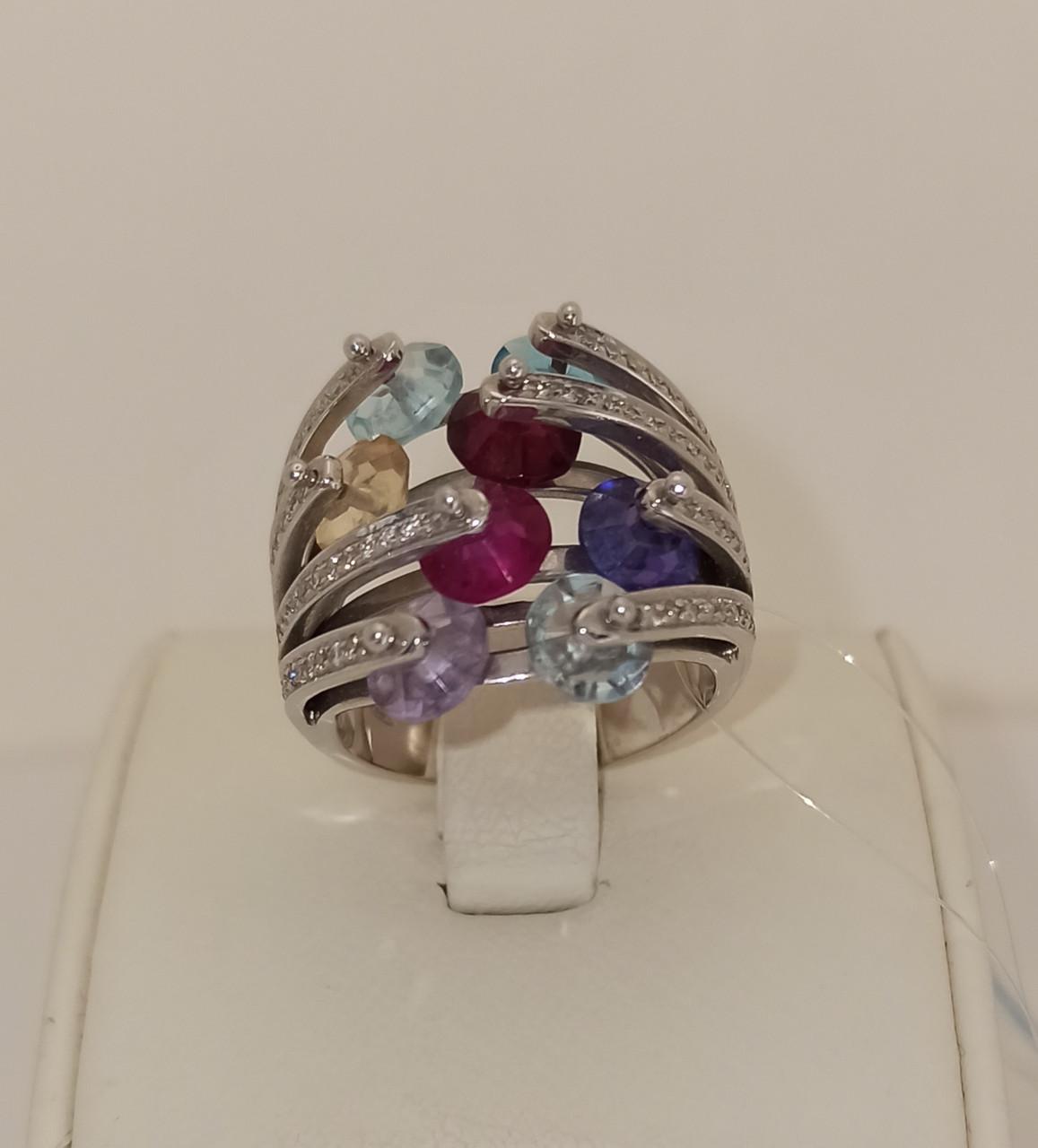 Комплект (бриллианты, аметист, топаз, цитрин) - фото 2