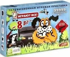 Игровая приставка 8 bit Duck Hunt 99999 в 1 + 10 встроенных игр + 2 геймпада + пистолет (Черная)