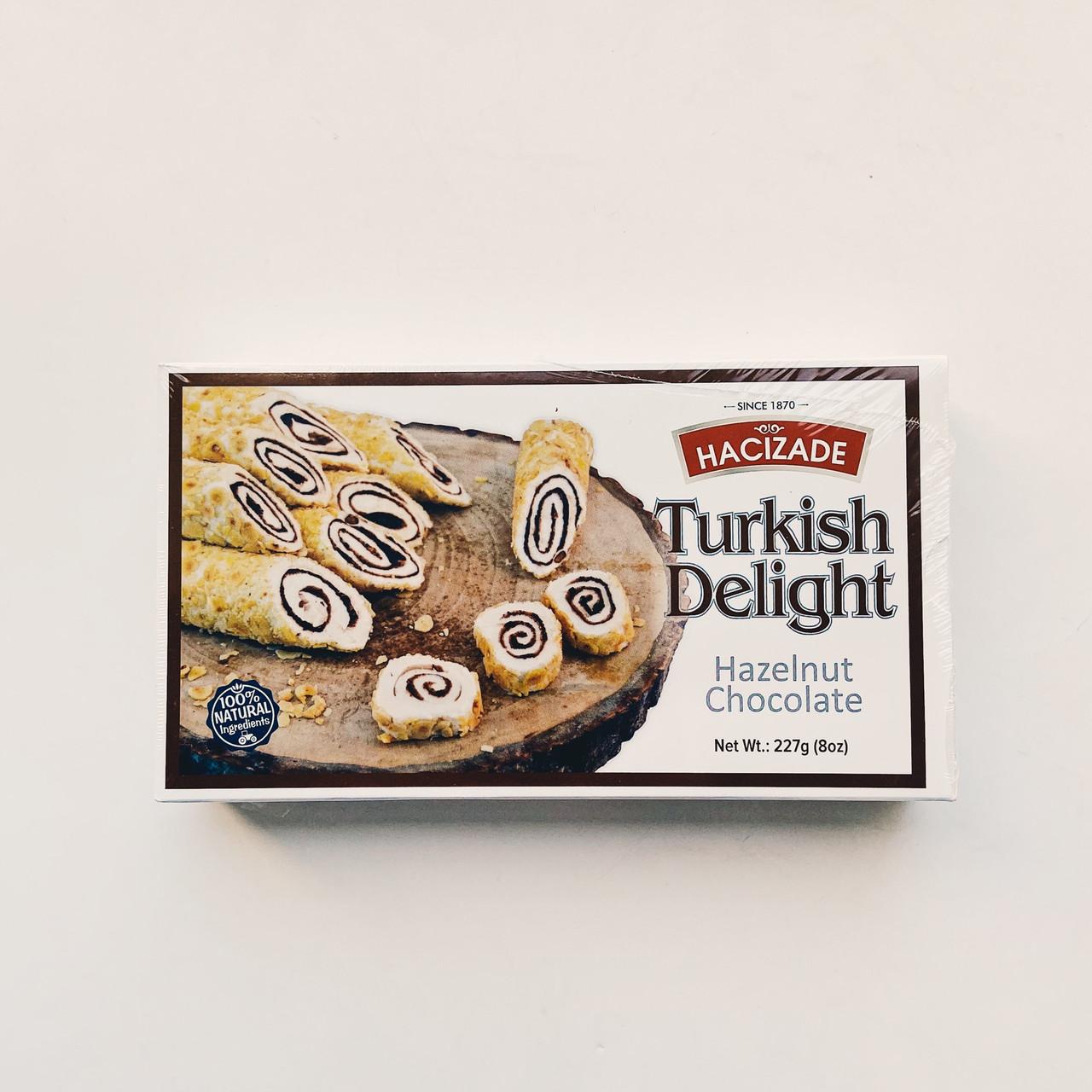 Рахат-лукум Hacizade Лесной орех с шоколадом (Турция) 227 гр.