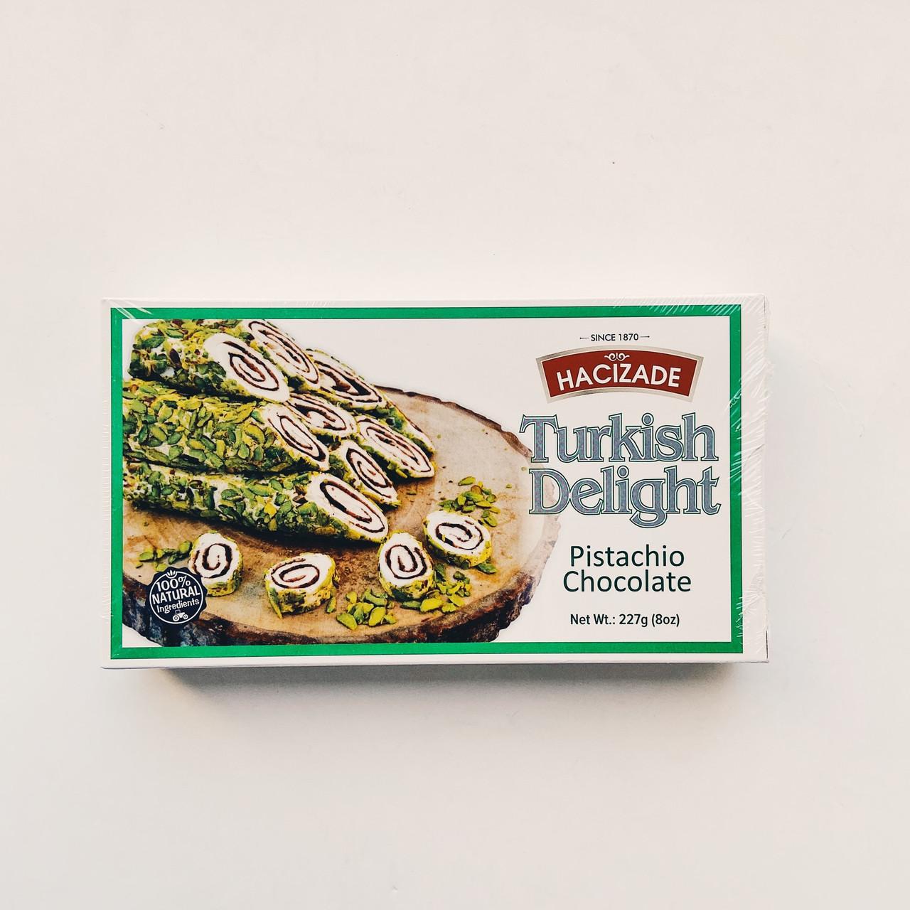 Рахат-лукум Hacizade с Фисташками и шоколадом (Турция) 227 гр.