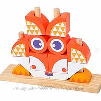 """Пазл Classic World """"Деревянная игрушка""""(лев,лягушка,сова,лиса), фото 2"""