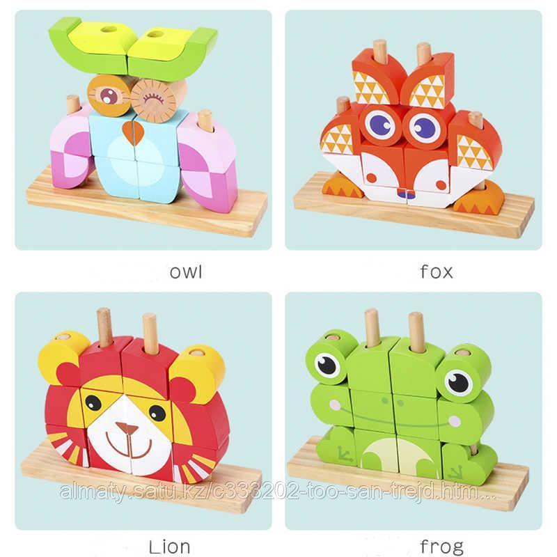 """Пазл Classic World """"Деревянная игрушка""""(лев,лягушка,сова,лиса)"""